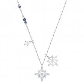 Swarovski Necklace with the symbols of the stars plated rhodium 5511404