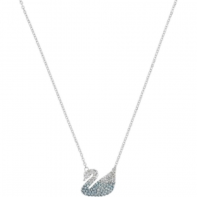 Swarovski Necklace with pendant swan rhodium-plated 5512095