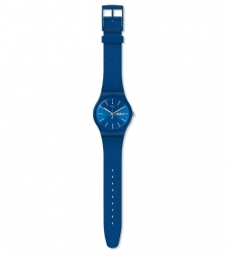 SWATCH WATCH MEN STRAP MATERIAL EFFECT BLUE SUON711
