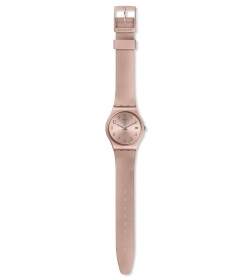 SWATCH WOMAN WATCH STRAP PALE PINK METALLIC GP403