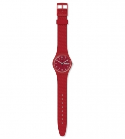 SWATCH WATCH WOMEN'S STRAP MESH EFFECT COLOR RED GR710
