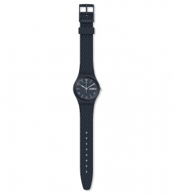 SWATCH MENS WATCH STRAP MESH EFFECT DARK BLUE GN725