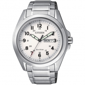 CITIZEN watch only time man strap steel dial white AW0050-58A