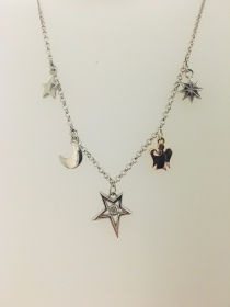 GIANNOTTI NECKLACE WITH SILVER STARS AND ANGELS GIA362