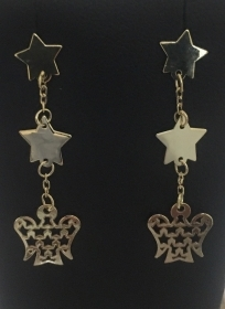 GIANNOTTI EARRINGS YELLOW GOLD ANGEL CHARM STAR NKT285