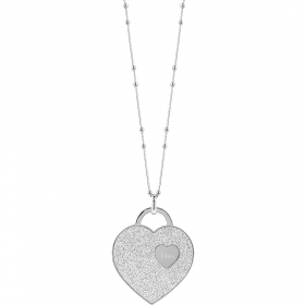 Bliss necklace bronze heart glitter silver 20076330