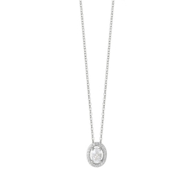 Bliss necklace silver pendant round shape 20085202