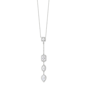 Bliss Necklace silver with cubic zirconia 20085198