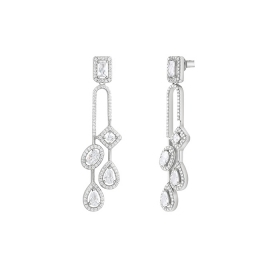 Bliss earrings silver with cubic zirconia various shapes 20085203