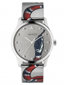 Gucci G-Timeless Watch with snake head in the quadrant YA1264123