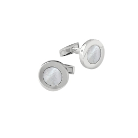 Salvini cufflinks silver and mother-of-pearl with diamond 20069087