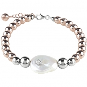 Bliss silver Bracelet hematite with pearl 20077689