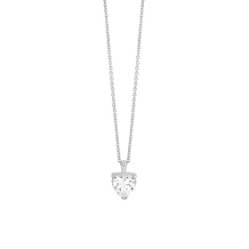 Bliss necklace silver with cubic zirconia heart-shaped 20085017