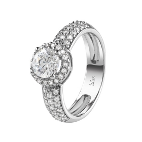 Bliss silver ring with pave cubic zirconia 20085029