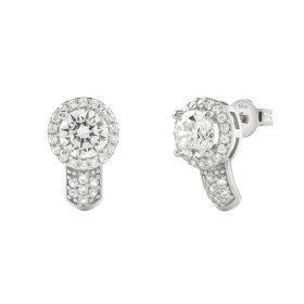 Bliss earrings with silver pave cubic zirconia 20085030