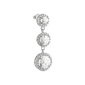 Bliss mono earring silver with zircons 20085223