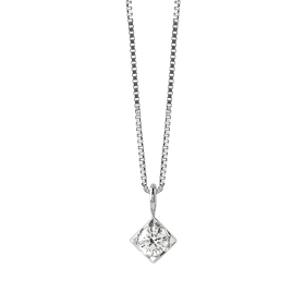 Bliss Necklace In White Gold and diamonds ct 0,080 collection. Dream 20077223