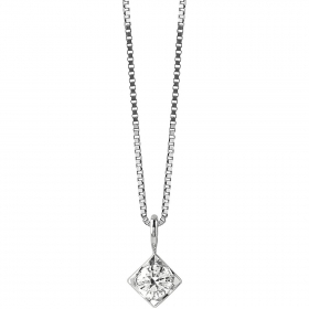 Bliss Necklace In White Gold and diamonds ct 0,100 collection. Dream 20077224