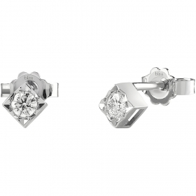 Bliss earrings in white gold with diamonds ct 0,04 collection. Dream 20077227