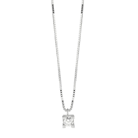 Bliss necklace white gold and