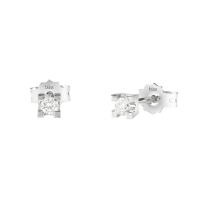 Bliss earrings white gold and diamonds ct 0,20 20081233