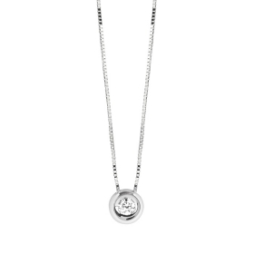 Bliss Necklace white gold and diamonds ct 0,03 20081235