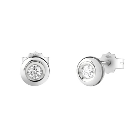 Bliss earrings in white gold with diamonds ct 0,02 20081239