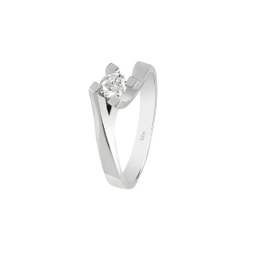 Bliss solitaire ring in white gold with diamond ct 0,10 Ref. 20077653