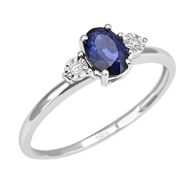 Bliss ring in white gold with