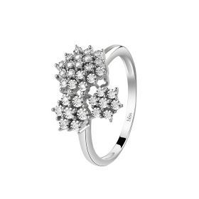 Bliss ring white gold with ct diamonds 0,11 Ref. 20085120
