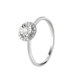 Bliss solitaire ring with diamond ct 0,07 Ref. 20085604