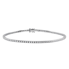 Salvini Tennis Bracelet in white gold and diamonds ct 0,40 Ref. 20057132
