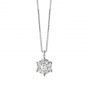 Bliss Necklace white gold and diamonds ct0,07 collection. Caresse Ref. 20081280