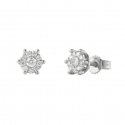 Bliss Earrings white gold and diamonds ct 0,13 collection, Caresse Ref. 20081281