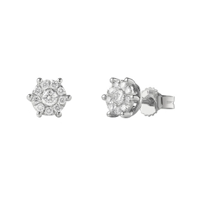 Bliss Earrings white gold and diamonds ct 0,17 collection, Caresse Ref. 20077257