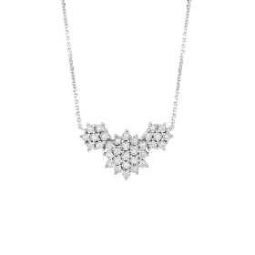 Bliss necklace white gold and diamonds ct 0,11 collection. Elixir Ref. 20085208