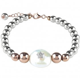 Bliss silver bracelet hematite collection. Oceania Ref. 20077684