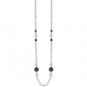 Bliss necklace silver hematite
