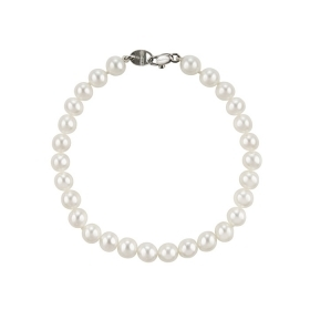 Salvini Bracelet gold with pearl river and the bright 0.005 ct Ref. 20061035