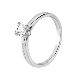Salvini solitaire Ring white gold and diamonds ct 0,29 Ref. 20067054