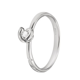 Salvini Ring solitaire ring white gold and diamonds ct 0,11 Ref. 20058490