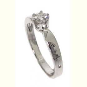 Salvini solitaire Ring white gold and diamonds ct 0,23 Ref. 20073748