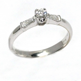 Salvini solitaire Ring white gold and diamonds ct 0,54 Ref. 20044024