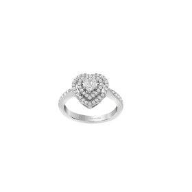 Salvini ring white gold with diamonds heart shape ct 0,60 Ref. 20085791