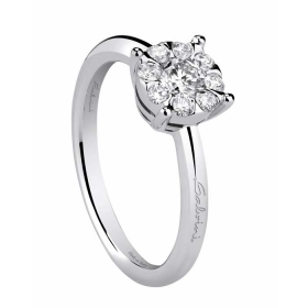 Salvini solitaire Ring white gold with diamonds ct 0,18 Ref. 20054089