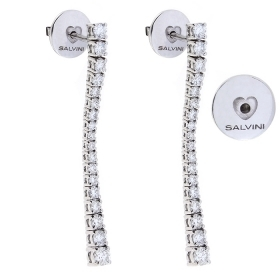 Salvini Earrings white gold long pendant of brilliant ct 1,25 Ref. 20077323
