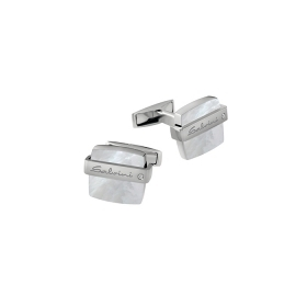 Salvini Cufflinks silver and mother-of-pearl with diamond ct 0,01 Ref. 20069083