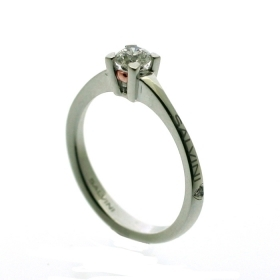 Salvini solitaire ring white gold and diamonds ct 0,30-Beat Ref. 20074774