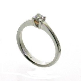 Salvini solitaire ring white gold and diamonds ct 0,24 beat Ref.20074773