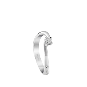 Salvini solitaire ring white gold and diamonds ct 0,27 Dedicates Ref.20082956